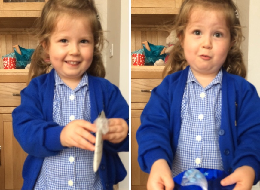 Menina reage de um jeito inesperado quando descobre que vai ganhar um irmãozinho
