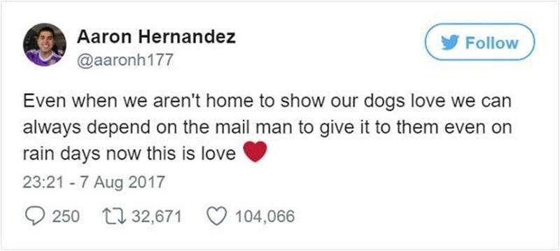 Esse carteiro fez algo com os cães que vai te deixar simplesmente de boca aberta