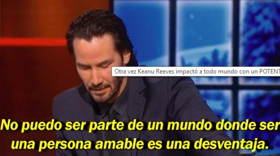 Otra vez Keanu Reeves impactó a todo mundo con un POTENTE mensaje. Absolutamente te hará reflexionar!