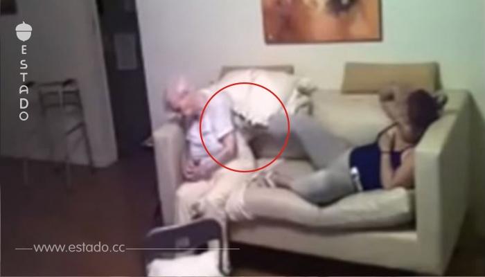 Una mujer puso una cámara oculta y gracias a eso vio que hacía una cuidadora con su madre enferma por Alzheimer...