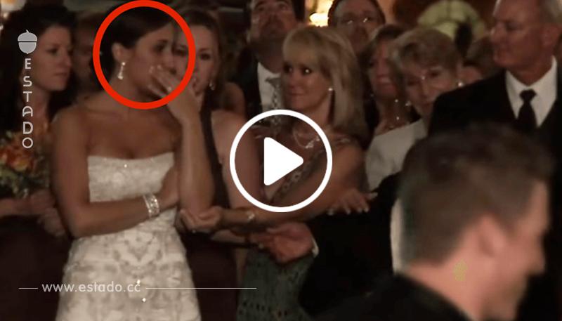 El novio besó a otra delante de los ojos de la novia. ¿Su reacción? Sin palabras