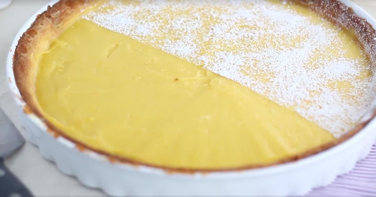 Posiblemente esta sea la tarta de limón más fácil de hacer que hayas visto nunca
