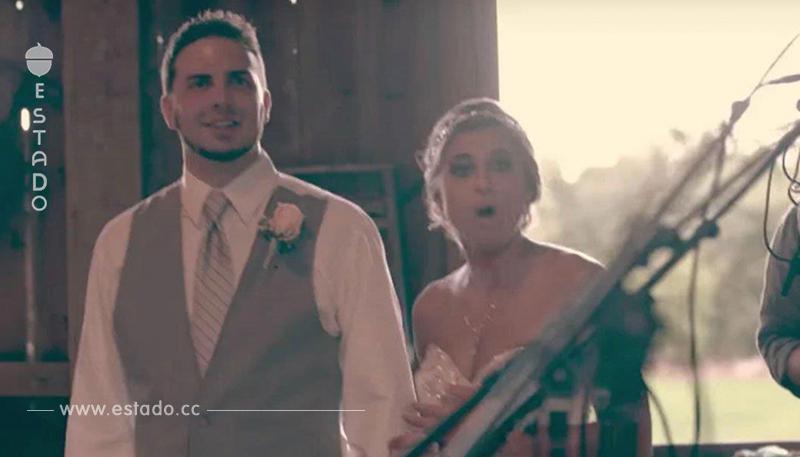 Recién casados pensaban que el DJ tocaría su canción, pero la hermana da micrófono a invitados no invitados