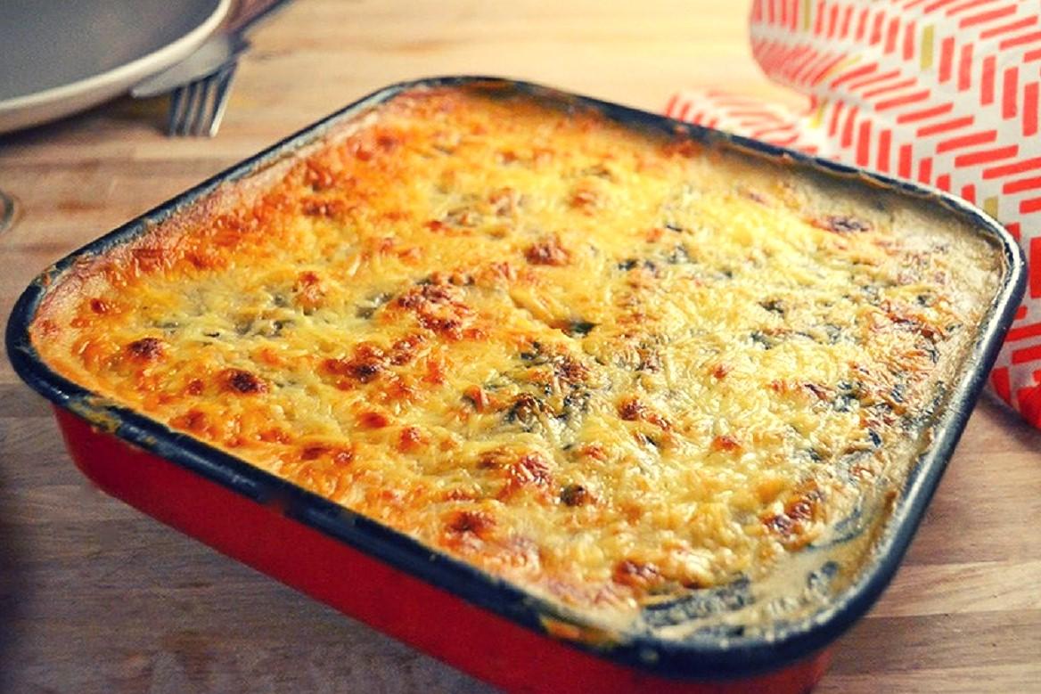 Acelgas con queso al horno