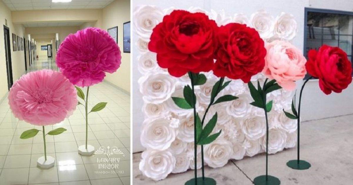 Nueva tendencia, aprende a crear estas flores gigantes de papel