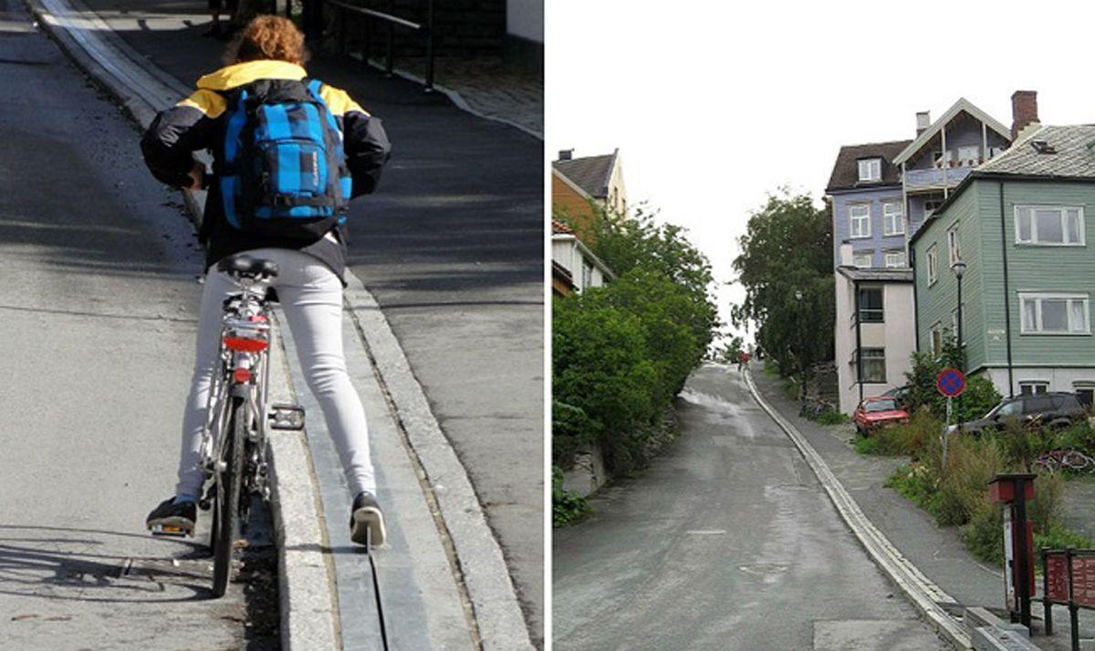 En Noruega han inventado la mejor ayuda para que los ciclistas suban cuestas   Casas Increibles