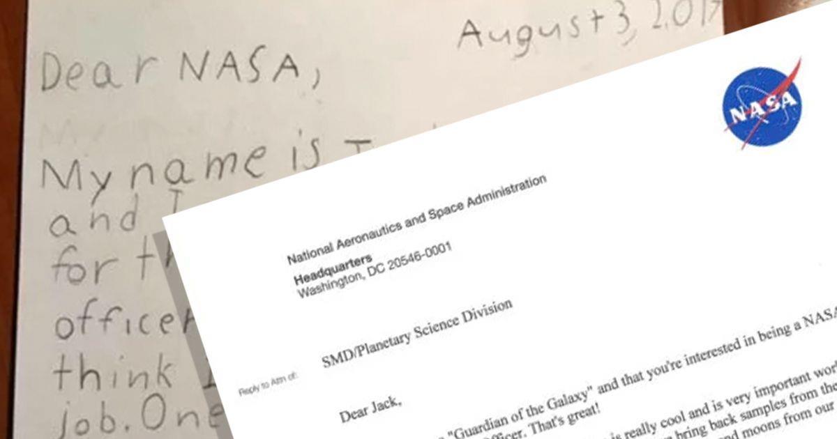 Un niño aplica a una oferta de empleo de la NASA y recibe una genial respuesta • La nube de algodón