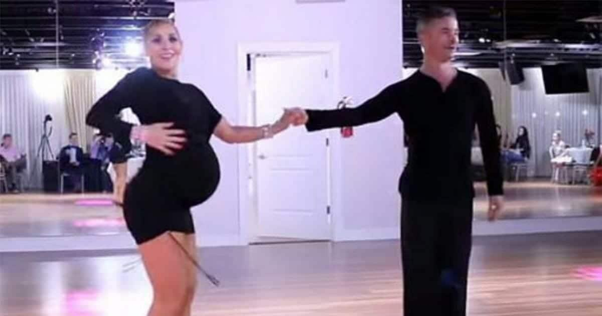 Embarazada de 9 meses se opone a dejar de bailar, mira cuando hace el pasito a la derecha