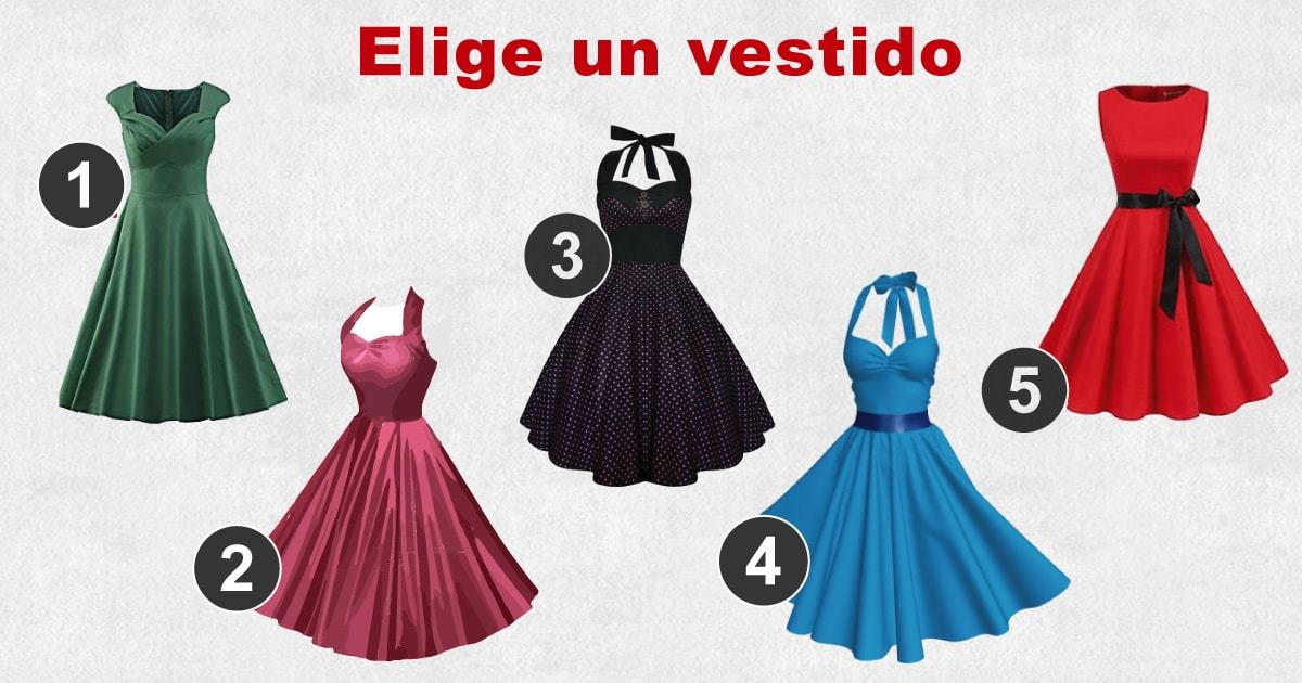 El vestido que elijas te revelará todo sobre tu feminidad…