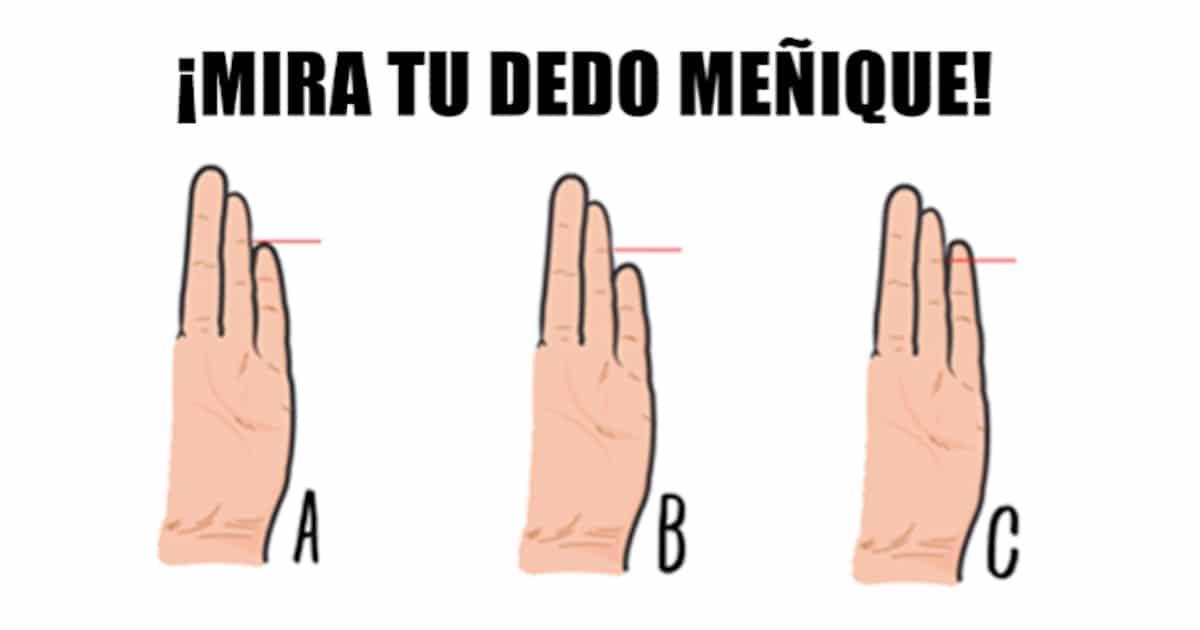 Descubre lo que el tamaño de tu dedo meñique dice sobre tu personalidad