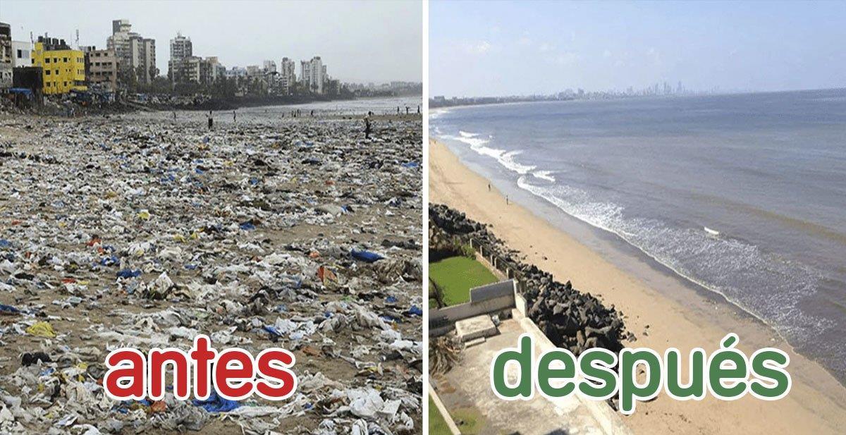 Las mejores fotografías del #Trashtag: limpiar un sitio de basura y mostrar el antes y después