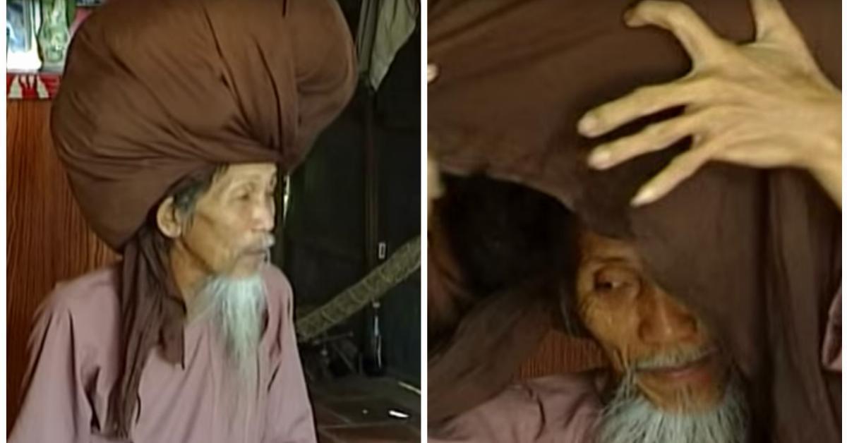 Casi un récord mundial: un hombre no se corta el pelo en 50 años