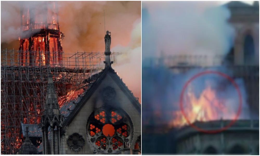 Entre las llamas de la catedral de Notre Dame aseguran haber visto la imagen de Jesús