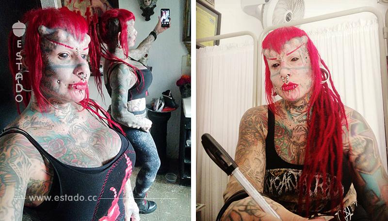 Entre tatuajes e incrustaciones: así es María José Cristerna, 'la mujer vampiro'