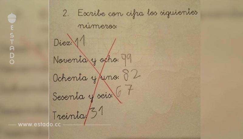 La ingeniosa respuesta de este niño a un ejercicio de matemáticas que se ha vuelto viral • La nube de algodón