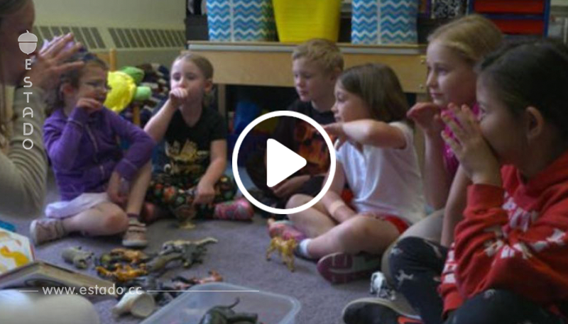 Todo el colegio aprendió lengua de señas para no excluir a una niña sorda