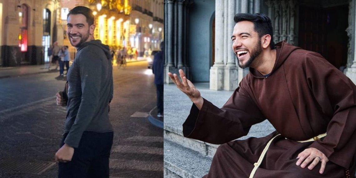 De modelo a sacerdote: apuesto fraile se apodera de Instagram para explicar pasajes bíblicos