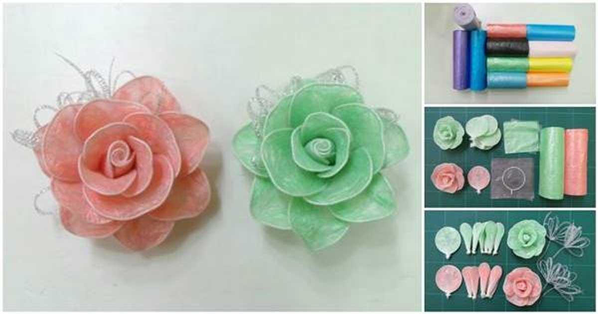 Crea Elegantes Rosas Decorativas Reciclando Bolsas De