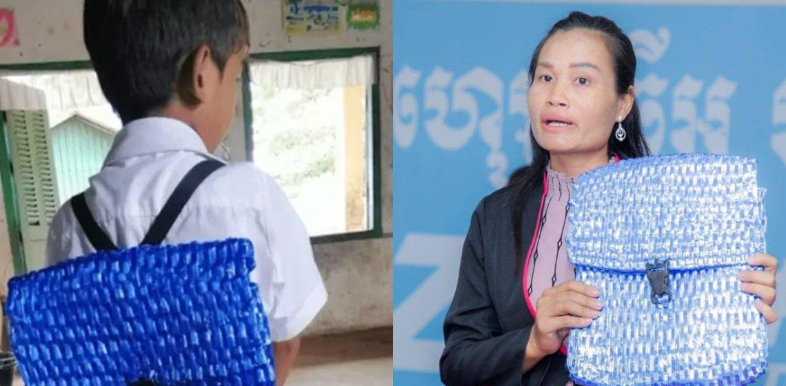 Padre de escasos recursos le teje una mochila a su hijo y el resultado es una lección de amor