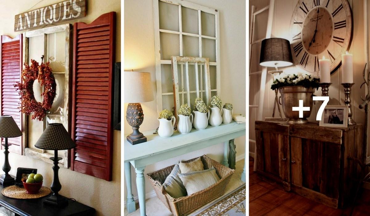 ¡Con estas 10 preciosas ideas de recibidores de hazlo tu misma, harás de tu hogar un lugar más acogedor! ¡Créeme!