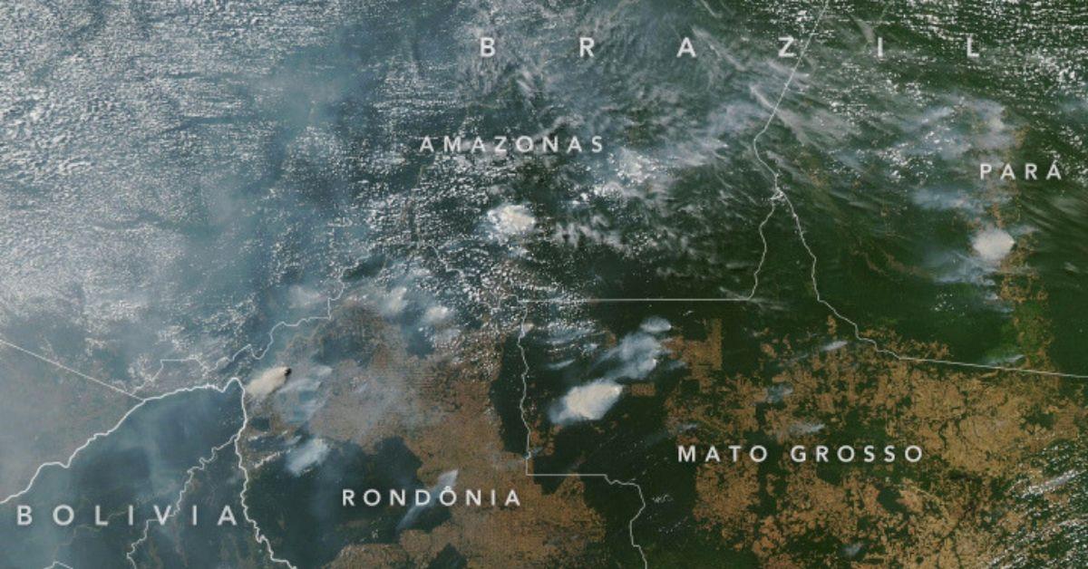 La NASA capta desde el espacio los incendios forestales en la Amazonía