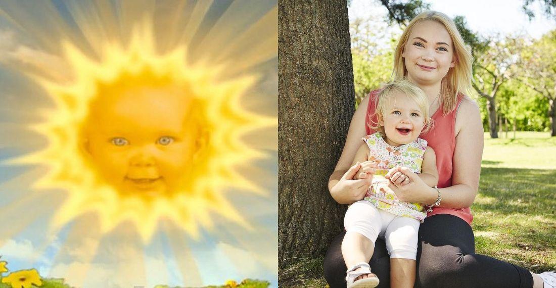 La verdad detrás de la foto, como adulta, de la bebé que interpretó al Sol en los 'Teletubbies'