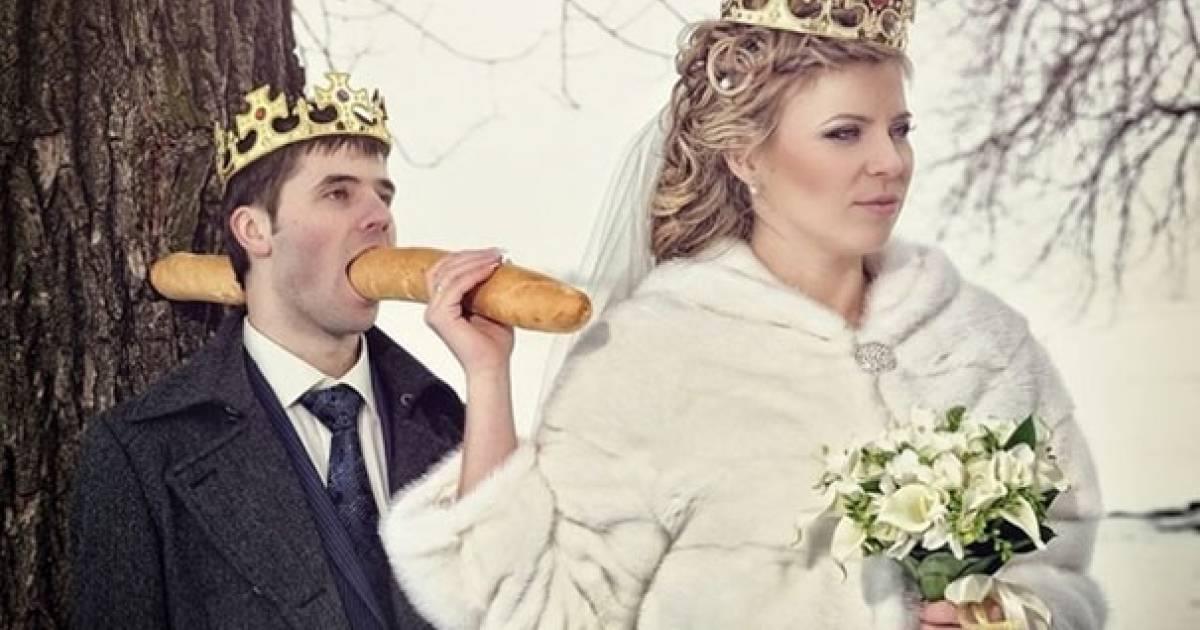 10 extrañas fotos de bodas rusas tan malas que son buenas