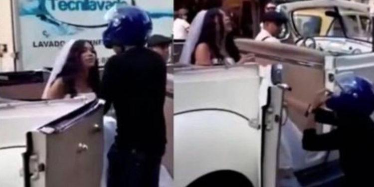Persiguió el auto de su exnovia el día que se casaba para pedirle otra oportunidad
