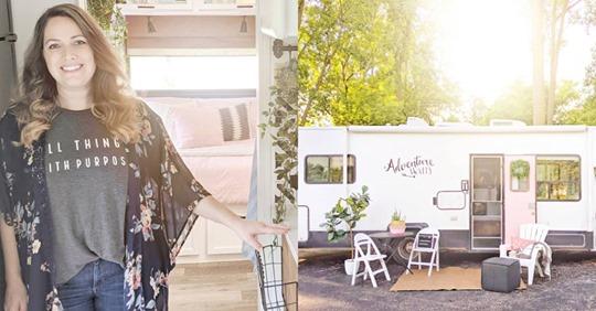 Sarah Lemp, la mujer que transforma vehículos antiguos en acogedores hogares