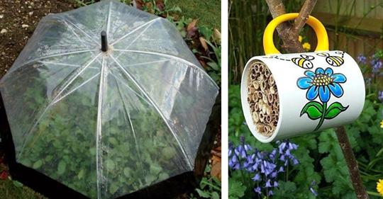 Reciclaje verde: 13 ideas decorativas para el jardín