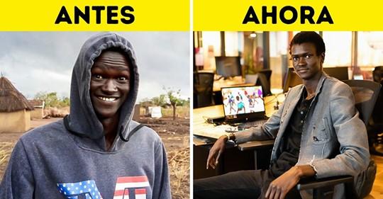 Nació en un campo de refugiados, caminaba tres horas para usar una computadora y ahora desarrolla videojuegos que promueven la paz