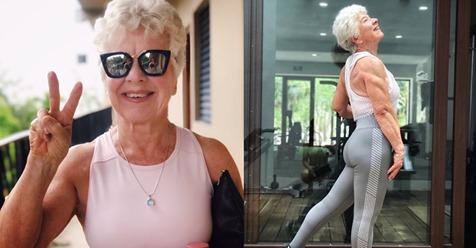 Esta mujer de 73 años demuestra que nunca es tarde para lograr una figura atlética y definida
