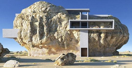 Así es «La casa en la roca» del arquitecto Amey Kandalgaonkar