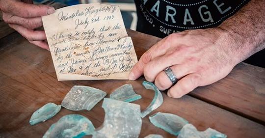 Obrero encontró una nota dentro de una pared dejada allí hace 112 años