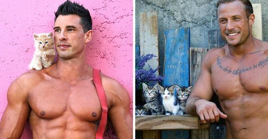 Estos bomberos australianos posan con animales para el calendario benéfico de 2020, y las fotos podrían causar incendios