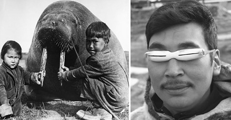 Las extrañas pero realmente útiles gafas de hueso o madera que utilizaban los inuits