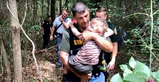 Heroico sabueso encuentra en solo 28 minutos a un niño perdido de 3 años que tiene autismo