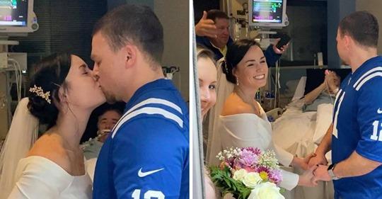 Papá dice que está listo para que lo desconecten luego de que su hija se casara con su prometido en el hospital
