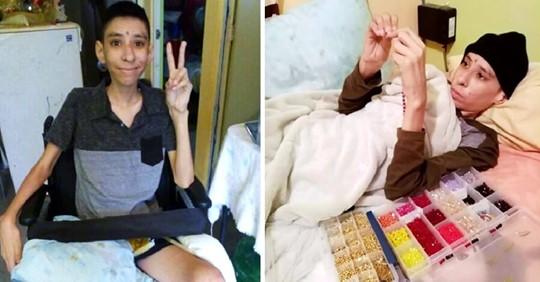 Niño con cáncer hace pulseras en el hospital para pagar su tratamiento
