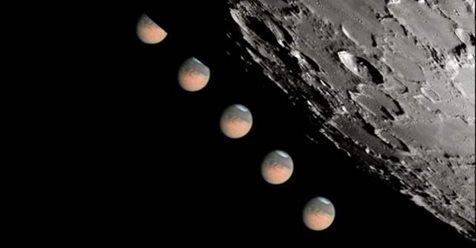 La luna, Marte, Júpiter y Saturno se alinean hoy.