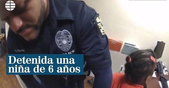 Esposan y detienen a una niña de seis años por una rabieta en un colegio de EEUU