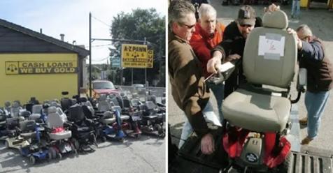 Amables dueños de casa de empeños regalan 580 sillas de ruedas motorizadas a personas discapacitadas