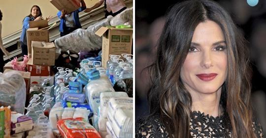Sandra Bullock en secreto ha donado millones para ayudar en los desastres y nadie se había dado cuenta
