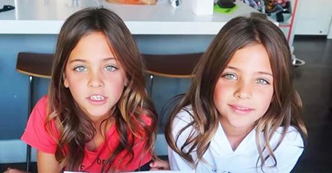 Gemelas idénticas nacidas hace diez años crecen y se van pareciendo cada vez más a Jennifer Aniston