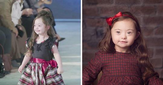Niña de 4 años con síndrome de Down se consagra como modelo