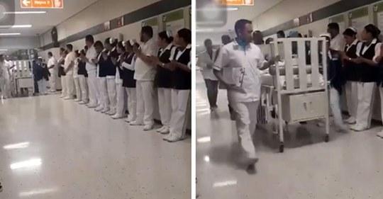 Hospital le da un conmovedor  paseo de honor a una bebé cuyos órganos salvaron a 3 niños