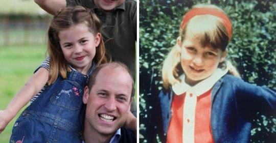 La princesa Charlotte es idéntica a la princesa Diana en un momento de su niñez