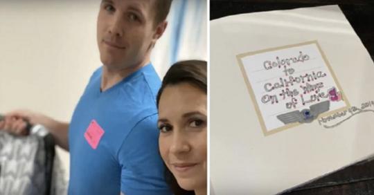 Desconocidos en un avión hacen imprevisto Baby Shower a pareja que acaba de adoptar una niña