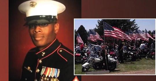Unos motociclistas patrióticos se involucran después de enterarse de que los restos de un marine serán enviados a su hogar en una caja de FedEx