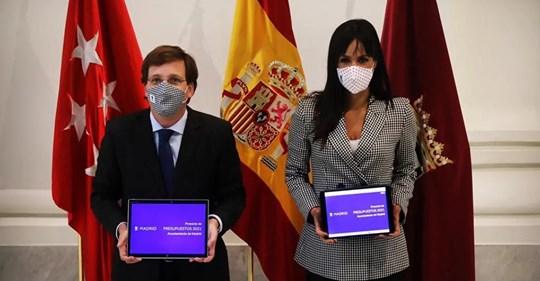 Almeida dispara un 52% la inversión en los Presupuestos para  reactivar  Madrid tras la crisis del Covid